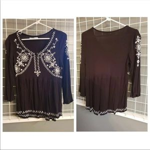 NEW Maurices Boho Peasant Top / Blouse